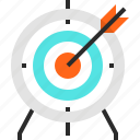achievement, arrow, goal, marketing, objective, success, target icon