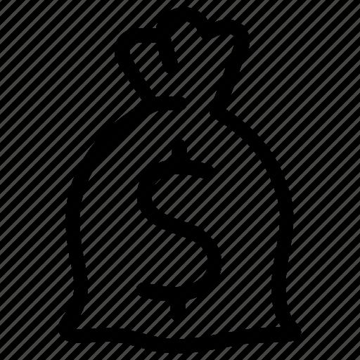 cash, dollar, loot, moeny bag, money, payment, stash icon