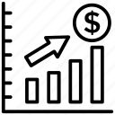business graph, business growth, business profit, business success, revenue growth icon