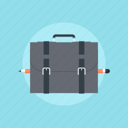 bag, briefcase, business, career, case, design, development, document, equipment, finance, job, luggage, management, office, portfolio, professional, suitcase, work icon
