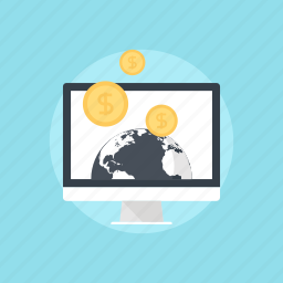 business, coin, commerce, computer, currency, digital, e-commerce, ecommerce, electronic, finance, global, income, international, internet, investment, money, network, online, seo, shopping, technology icon