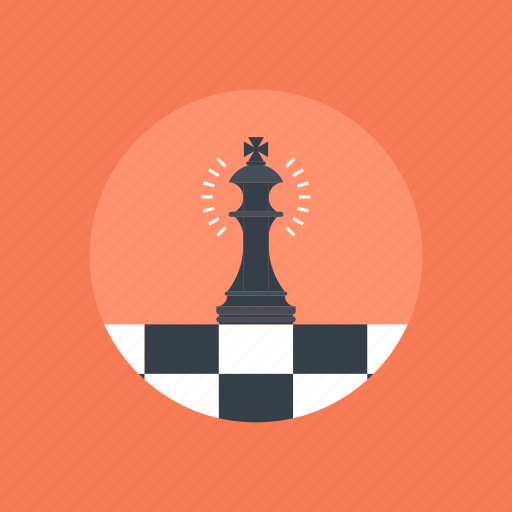 King, play, management, business, figure, solution, chess, strategy, game, planning, board, tactic, success, piece, plan icon