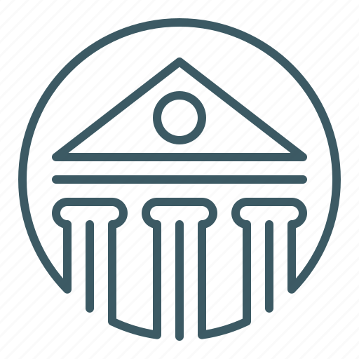 bank, building, house, money icon