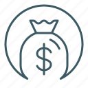 bag, cash, finance, money icon