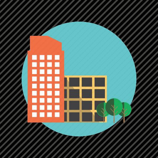big, building, business, city, marketing icon