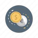business, conversion, currency, dollar, exchange icon