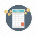 accounting, calculation, calculator, currency, financial icon