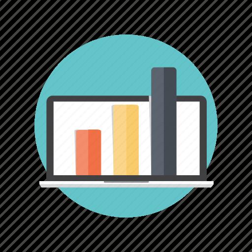 diagram, graph, online, report, statistic icon