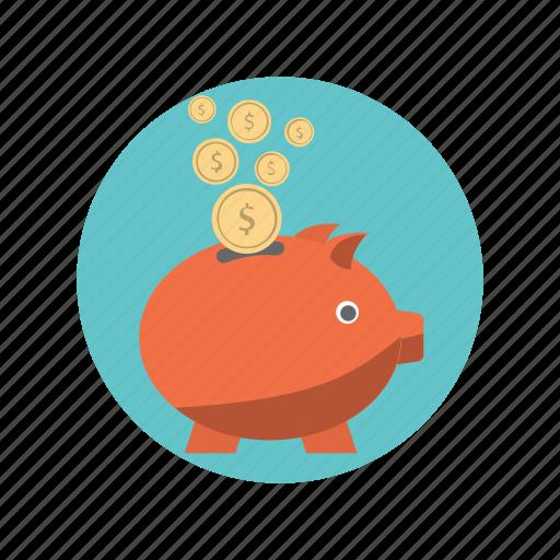 bank, cash, dollar, finance, piggy icon
