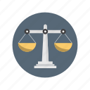 balance, law, measure, measurement, scale icon