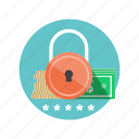 password, protection, secure, security, transaction icon