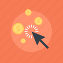advertising, arrow, business, buy, click, coin, commerce, currency, digital, ecommerce, electronic, finance, internet, marketing, money, online, pay, payment, per, ppc, profit, promotion, seo, shopping icon