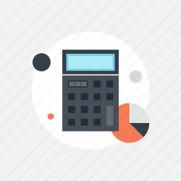 accounting, balance, budget, business, calculate, calculator, chart, commerce, counting, data, economy, education, finance, graph, math, mathematics, savings icon