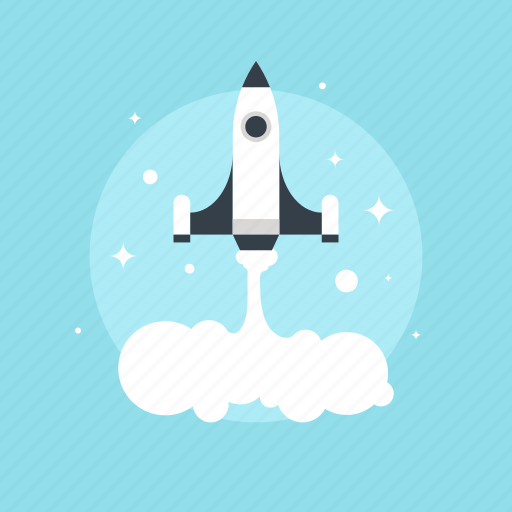 business, development, discover, fly, idea, innovation, launch, mission, new, project, research, rocket, ship, space, spaceship, start, startup, travel icon