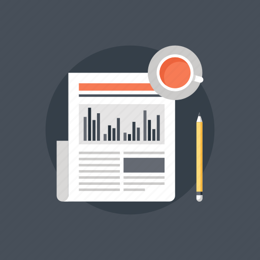 analysis, analytics, business, chart, data, finance, graph, information, journalism, letter, magazine, media, news, newsletter, newspaper, paper, press, publication, release, report icon