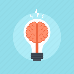 anatomy, brain, brainstorming, bulb, business, creative, development, energy, idea, imagination, innovation, inspiration, knowledge, light, power, process, research, science, smart, solution, technology, thinking icon
