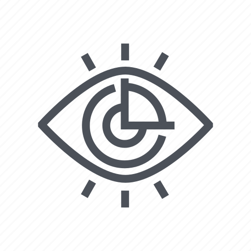 analytics, business, finance, graph, vision icon