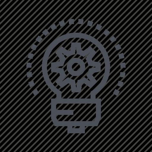 bulb, business, development, idea, light icon