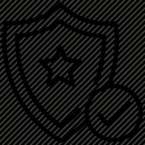 antivirus, safety shield, security, shield, star shield icon