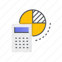 accounting, calculator, finance, marketing icon