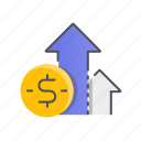 business, graph, growth, money, statistics icon
