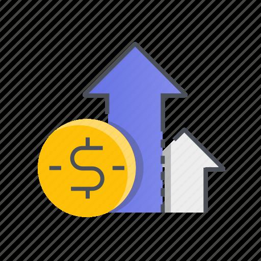 business, graph, growth, money, statistics icon