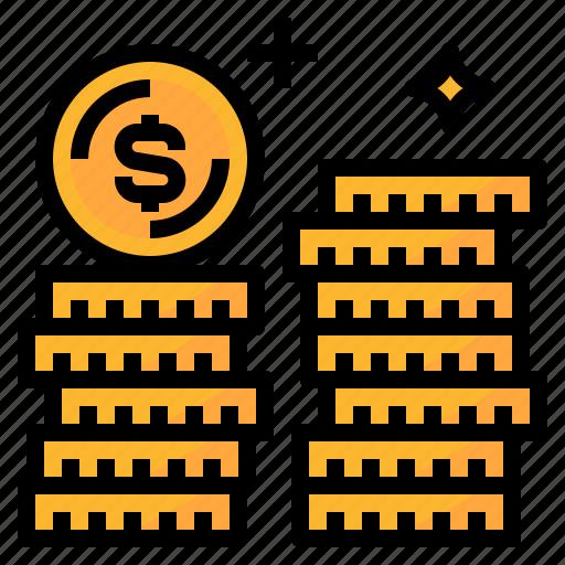 cash, coins, money, payment icon