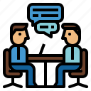 interview, meeting, teamwork icon