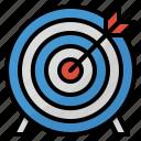 goal, arrow, target