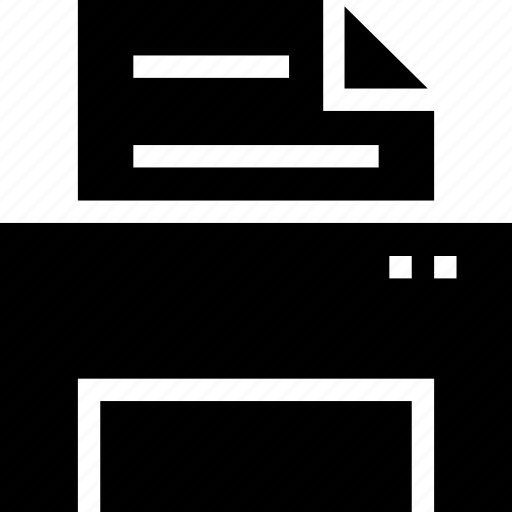 fax, output, printer, printing icon