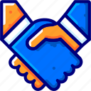 agreement, bukeicon, business, deal, finance, handheld, handshake icon