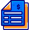 bill, bukeicon, financial, invoice, receipt, report, tax icon
