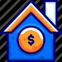 bukeicon, finance, house, money, property, storage, warehouse