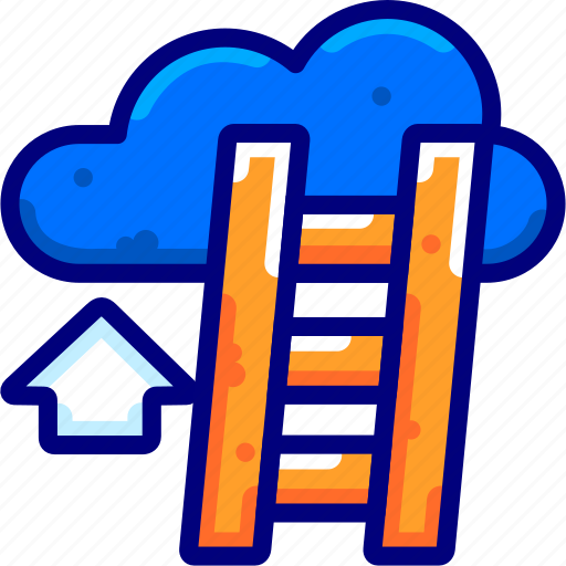 bukeiconfinance, business, career, cloud icon
