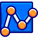 analysis, bukeicon, business, finance, link, network, search icon