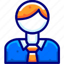 business, finance, man, moneybukeicon icon