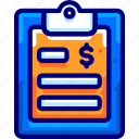 bukeicon, document, financial, note
