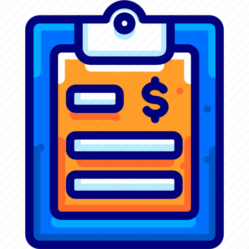 bukeicon, document, financial, note icon