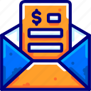 bukeicon, business, email, finance, message, received, sent