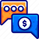 bukeicon, consulting, conversation, financial, talk icon