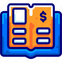 bookfinancial, books, bukeicon, general, ledger, paper