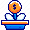 bukeiconfinance, growth, money, tree icon