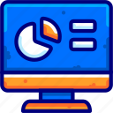 bukeicongraph, circle, decrease, increase, monitor icon