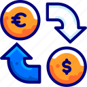 bukeiconfinance, exchange, money icon