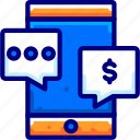 bukeicon, chat, conversation, discussion, internet, money, talks