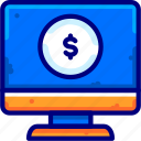 business, finance, money, moneybukeicon, online icon