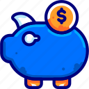 bukeicon, business, coins, finance, money, pig, savings icon