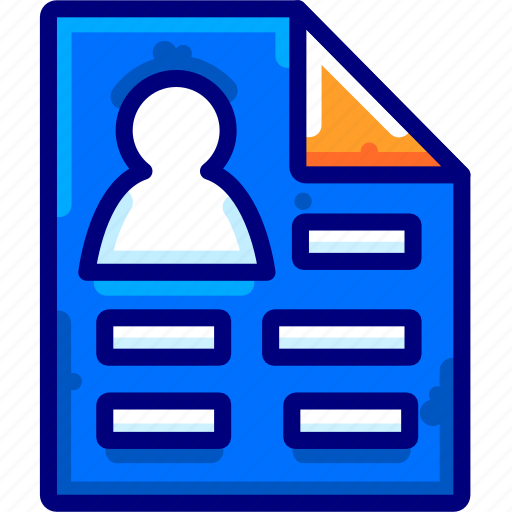 Bukeicon, cv, data, document, finance, personal, resume icon - Download on Iconfinder
