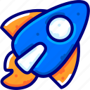 bukeicon, business, finance, rocket, startup
