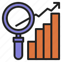 business, demand, growth, market, research icon